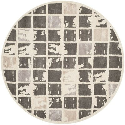 Jefferson Hand-Tufted Area Rug Rug Size: Round 5
