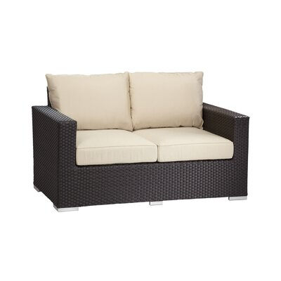 Aramingo Deep Seating Loveseat with Cushions Fabric: Canvas Vellum