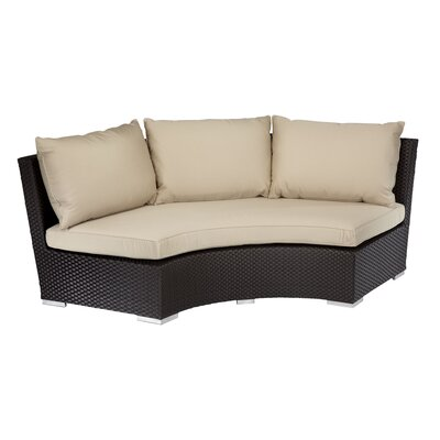 Aramingo Deep Seating Round Sofa with Cushions Fabric: Canvas Vellum
