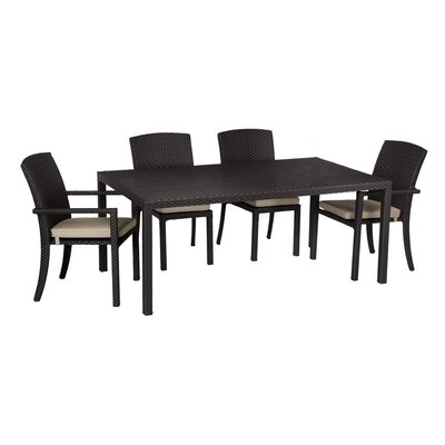 Aramingo 7 Piece Dining Set with cushions