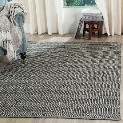 Shevchenko Place Hand-Woven Ivory / Dark Gray Area Rug Rug Size: Rectangle 5 x 7