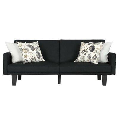 Adan Convertible Sofa Color: Black