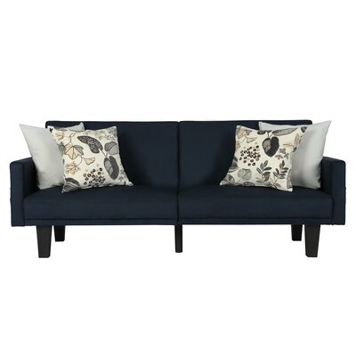 Clements Convertible Sofa Color: Blue