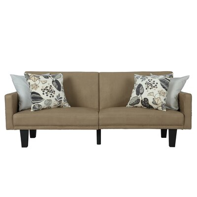 Clements Convertible Sofa Color: Tan