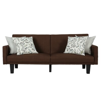 Clements Convertible Sofa Color: Brown