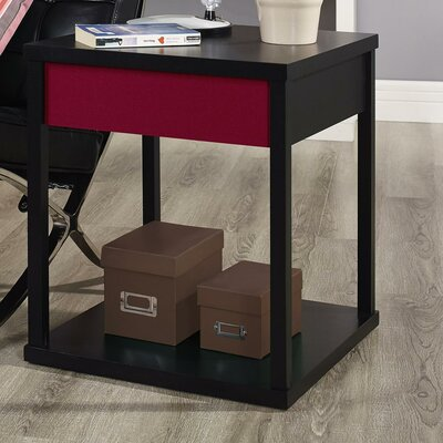 Oday End Table Finish: Black / Red