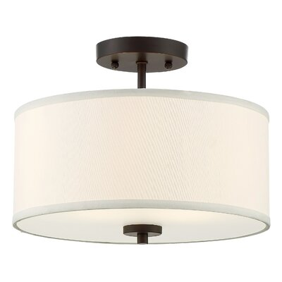 Salmons 2-Light Semi Flush Mount Finish: Oil Rubbed Bronze