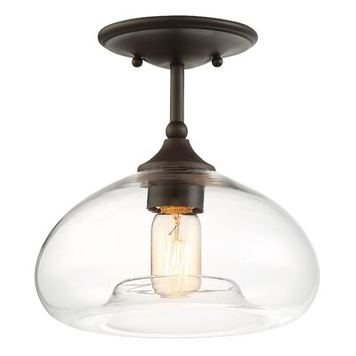 Salter 1-Light Semi Flush Mount Finish: Oil Rubbed Bronze