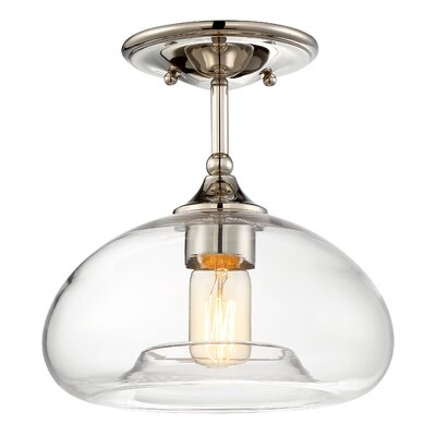 Salter 1-Light Semi Flush Mount Finish: Polished Nickel