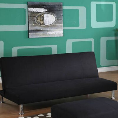 Swan Hill Convertible Sofa Upholstery: Black
