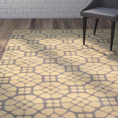 Formaran Hand-Tufted Gray/Butter Area Rug Rug Size: Rectangle 2 x 3