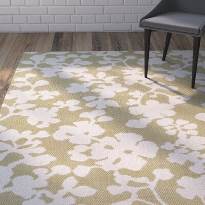 Baton Rouge Green/White Indoor/Outdoor Area Rug Rug Size: 2 x 36