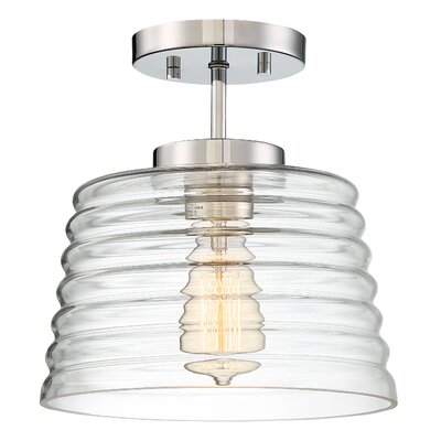 Salley 1-Light Semi Flush Mount