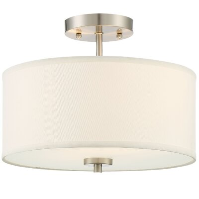 Salmons 2-Light Semi Flush Mount Finish: Polished Brass