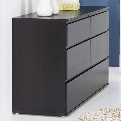 Karev 6 Drawer Double Dresser Color: Coffee