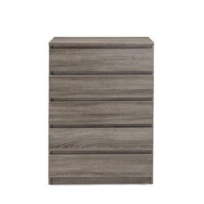Kepner 5 Drawer Chest Color: Truffle