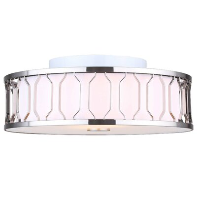 Salzman 2-Light Semi Flush Mount Finish: Brushed Nickel