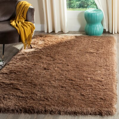 Armbruster Hand-Tufted Taupe Area Rug Rug Size: Rectangle 4 x 6