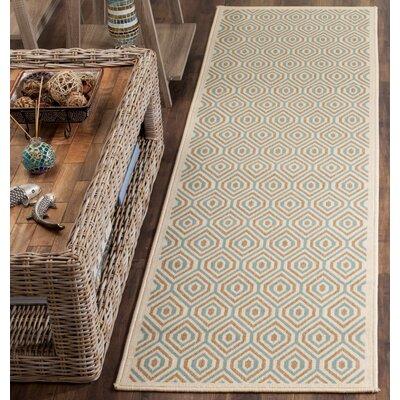 Armenta Cream Indoor/Outdoor Area Rug Rug Size: 4 x 57