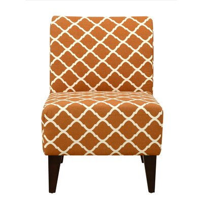 Proctor Slipper Chair Upholstery: Orange/White