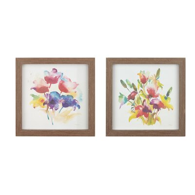 Color in Love 2 Piece Framed Painting Print Set