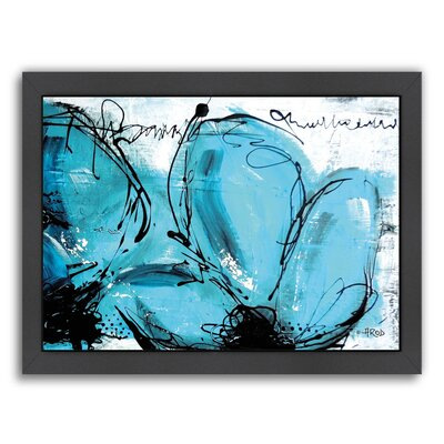 Fleurs Turquoises Framed Painting Print