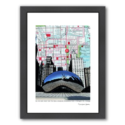 Chicago Millennium Bean Framed Graphic Art Frame Color: Black, Size: 16.5