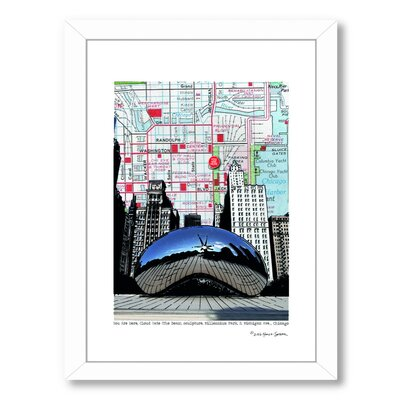 Chicago Millennium Bean Framed Graphic Art Size: 26.5