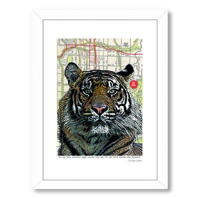 Kansas City Tiger Framed Graphic Art Size: 26.5