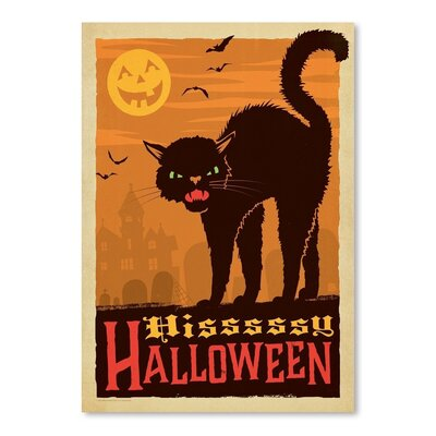 Cat_Halloween Vintage Advertisement Size: 10