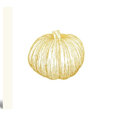 Gold Pumpkin Painting Print on Wrapped Canvas Size: 10