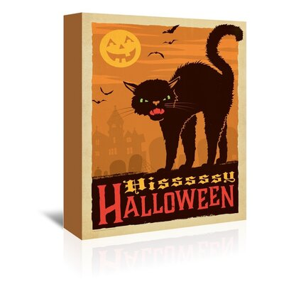Cat_Halloween Vintage Advertisement on Wrapped Canvas