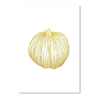 Gold Pumpkin Painting Print