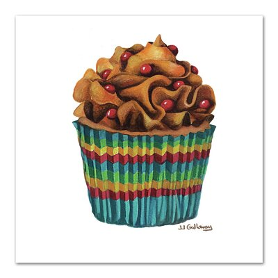 Carny Cupcake Painting Print Size: 10
