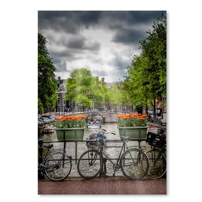 Amsterdam Gentlemencanal Bicycles Photographic Print Size: 10