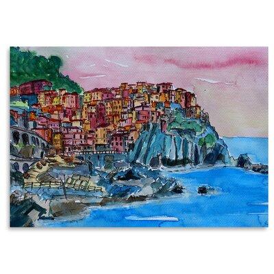 Manarola Cinque Terre Dream Painting Print Size: 11