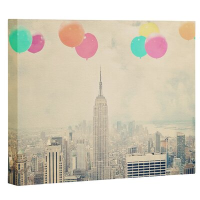 Photography Balloons Over The City Photographic Printon Canvas