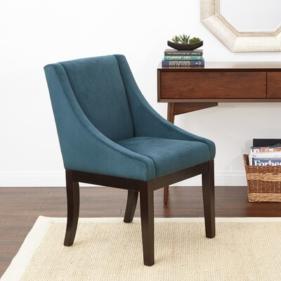 Herkimer Wingback Chair Upholstery: Azure