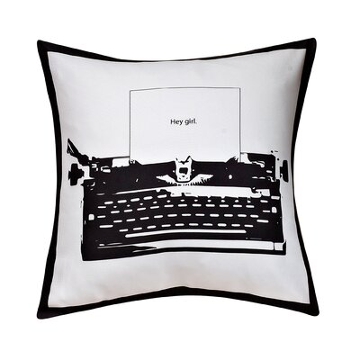 Kusinet Fun Typewriter Decorative Throw Pillow