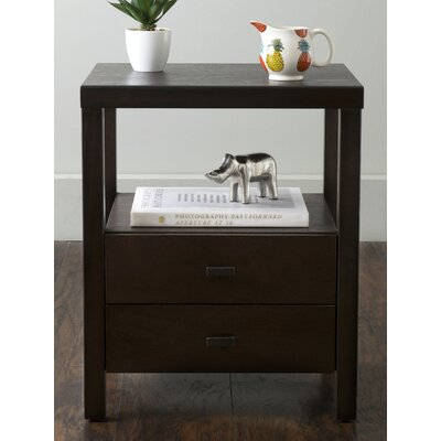 Sardina 2 Drawer Nightstand Finish: Brown