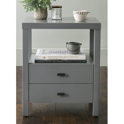 Sardina 2 Drawer Nightstand Finish: Gray