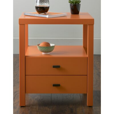 Sardina 2 Drawer Nightstand Finish: Orange