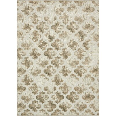 Sarmiento Cream Indoor/Outdoor Area Rug Rug Size: 7 x 10