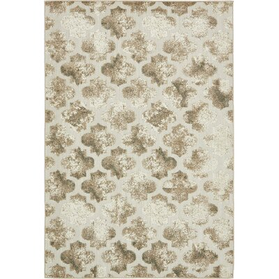 Sarmiento Cream Indoor/Outdoor Area Rug Rug Size: 6 x 9