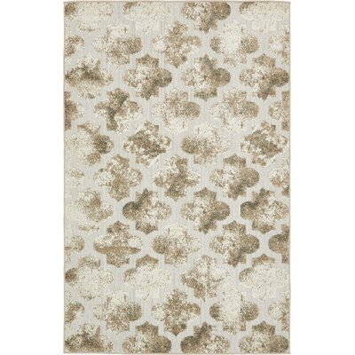 Sarmiento Cream Indoor/Outdoor Area Rug Rug Size: 5 x 8