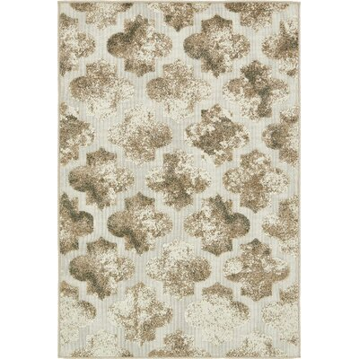 Sarmiento Cream Indoor/Outdoor Area Rug Rug Size: 4 x 6