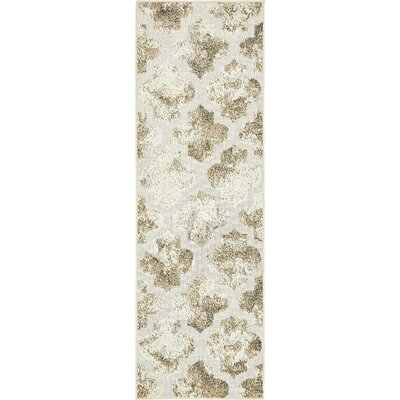 Sarmiento Cream Indoor/Outdoor Area Rug Rug Size: Runner 2 x 6