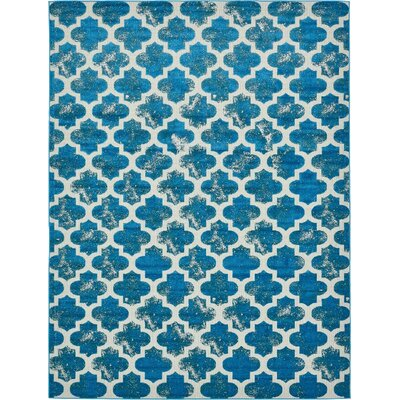 Sarno Turquoise Indoor/Outdoor Area Rug Rug Size: 5 x 8