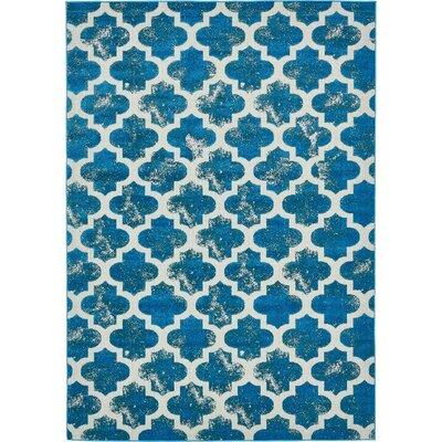 Sarno Turquoise Indoor/Outdoor Area Rug Rug Size: 7 x 10