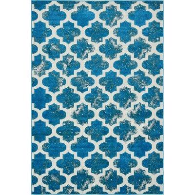 Sarno Turquoise Indoor/Outdoor Area Rug Rug Size: 6 x 9
